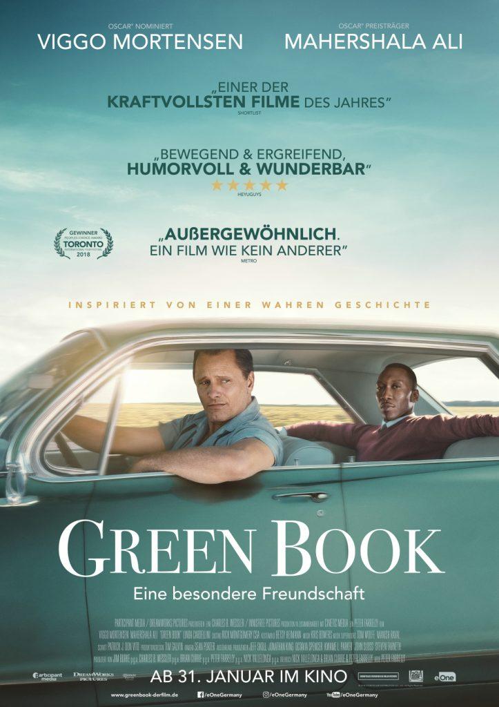 """Das Kinoplakat zu """"Green Book - Eine besondere Freundschaft"""" (nominiert für 5 Oscars) ©Entertainment One"""