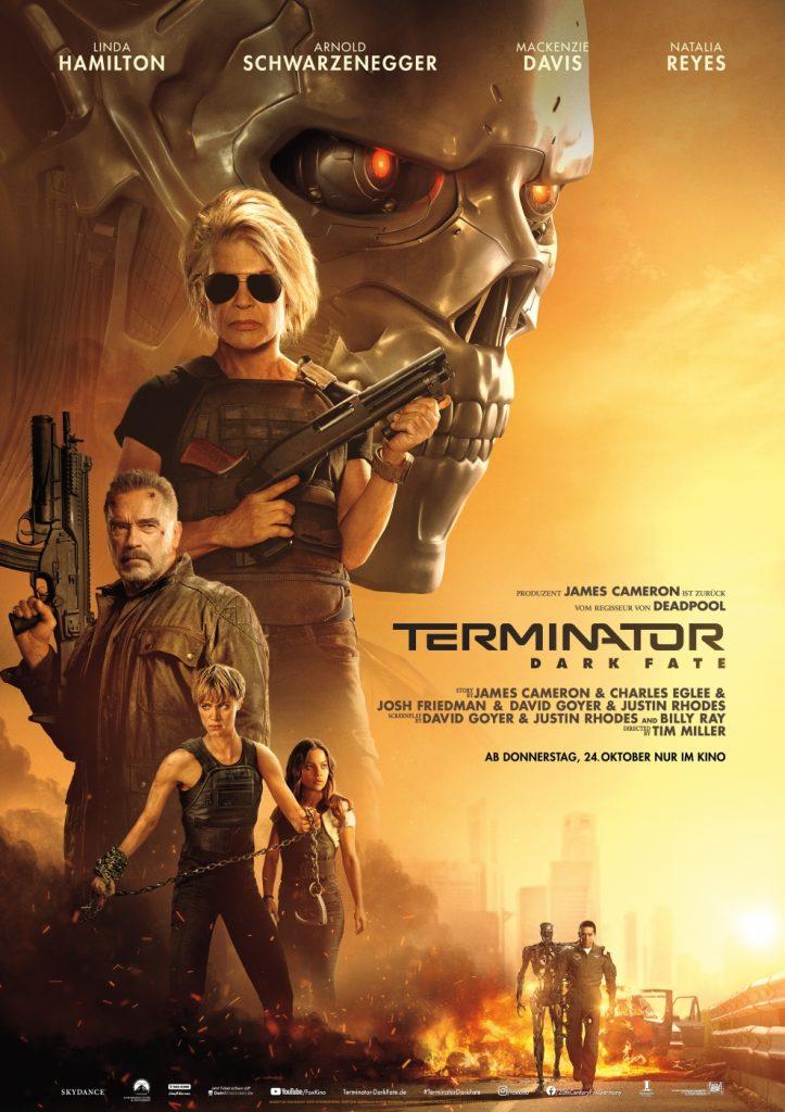 Das Original-Kinoplakat zu Terminator - Dark Fate © 2019 Twentieth Century Fox