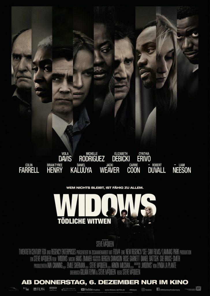 Das Original-Kinoplakat zu Widows - Tödliche Witwen © 2018 20th Century Fox