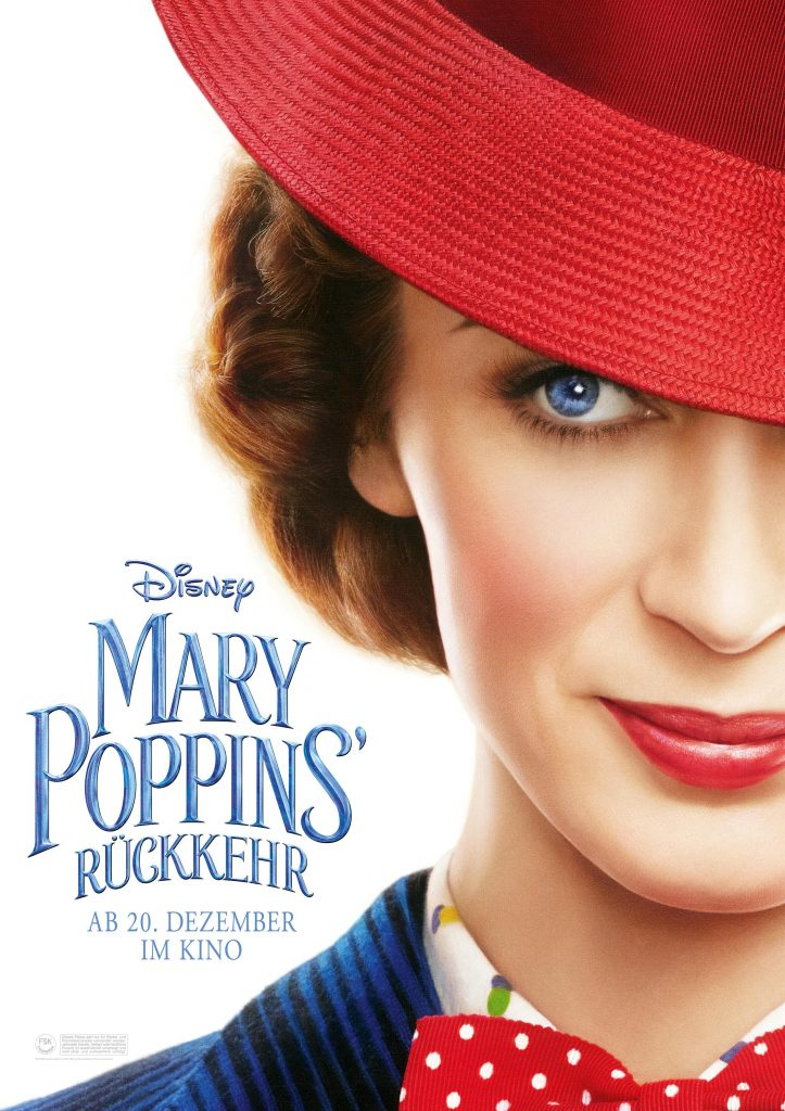 Das Originalkinoplakat zu Mary Poppins Rückkehr © 2018 The Walt Disney Company Germany