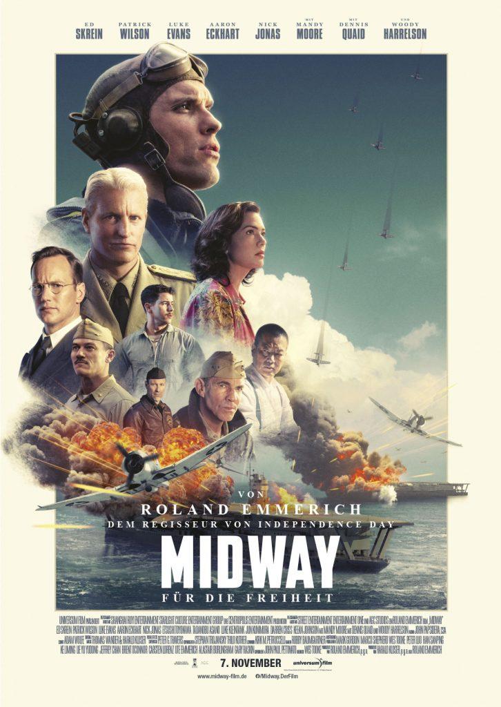Das Originalkinoplakat zu Midway - Für die Freiheit © 2019 Universum Film
