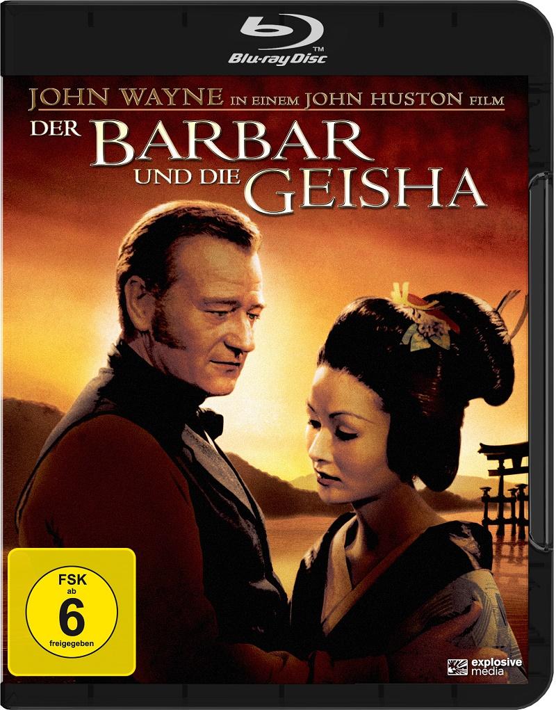 Blu-ray Cover von Der Barbar und die Geisha