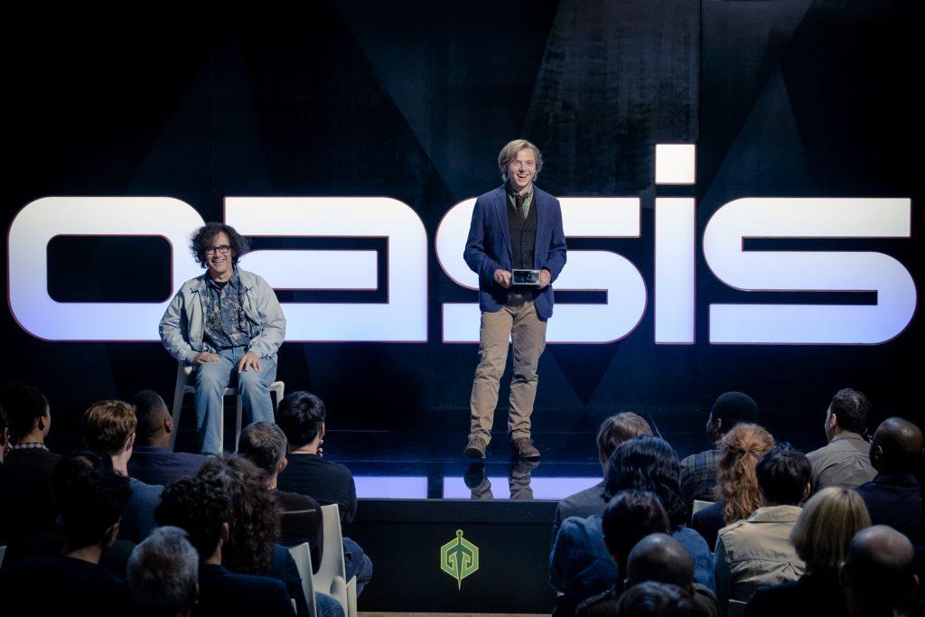 Die Erfinder der Oasis: James Donovan Halliday (Mark Rylance) und Ogden Morrow (Simon Pegg).