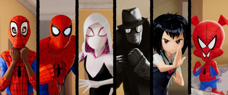 Die Spider-(Wo)Men sind bereit, die Dimensionen zu retten ©Sony Pictures