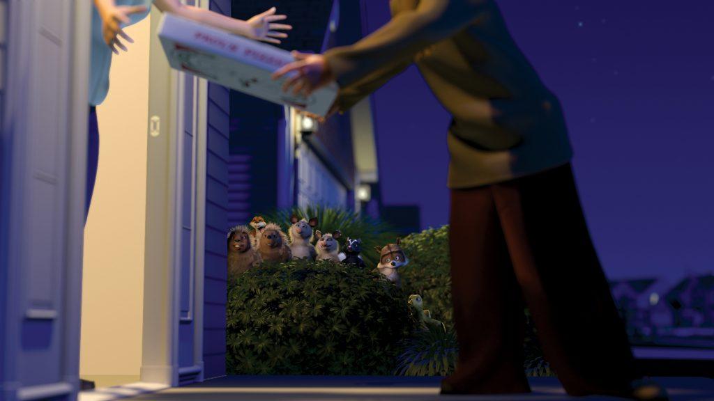 """Die Waldbewohner inspizieren die neue Wohnsiedlung in """"Ab durch die Hecke"""" © Universal Pictures"""