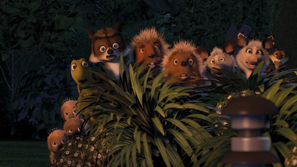"""Die bunte Truppe von """"Ab durch die Hecke"""" rund um Waschbär Richie © Universal Pictures"""