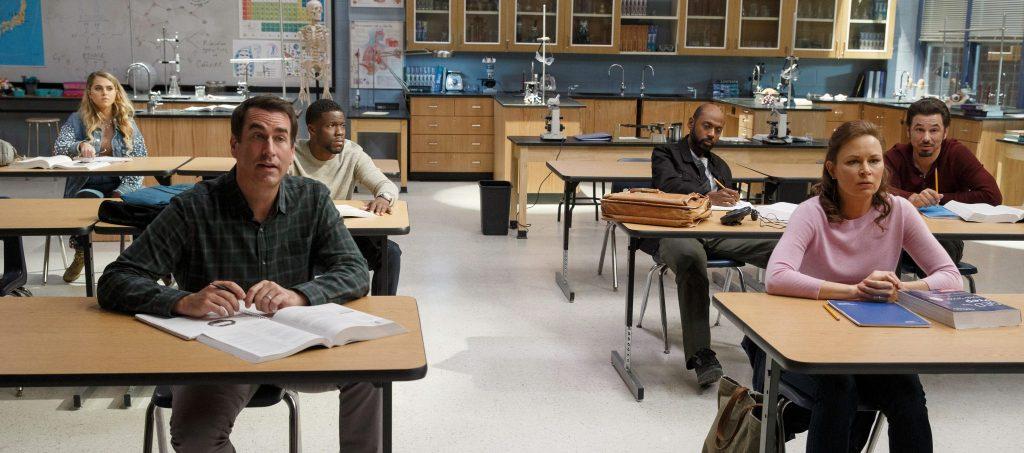 Die ganze Bande in Night School, erhältlich auf Bluray & DVD (© Universal Pictures)