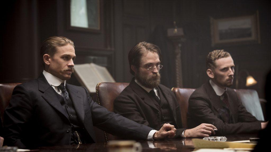 Percy Fawcett (Charlie Hunnam), Henry Costin (Robert Pattinson) und Arthur Manley (Edward Ashley) in The Lost City of Z