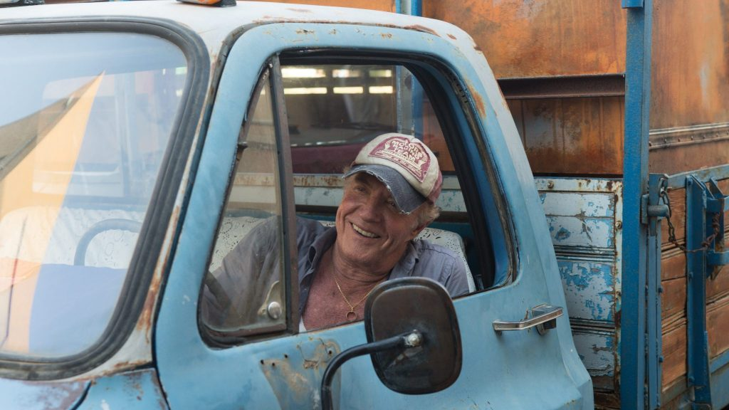 Harry (James Caan) als Schweinezüchter in Israel in Die Wurzeln des Glücks
