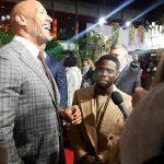 Dwayne The Rock Johnson und Kevin Hart mit beister Launer auf der Premiere zu Jumanji: Willkommen im Dschungel
