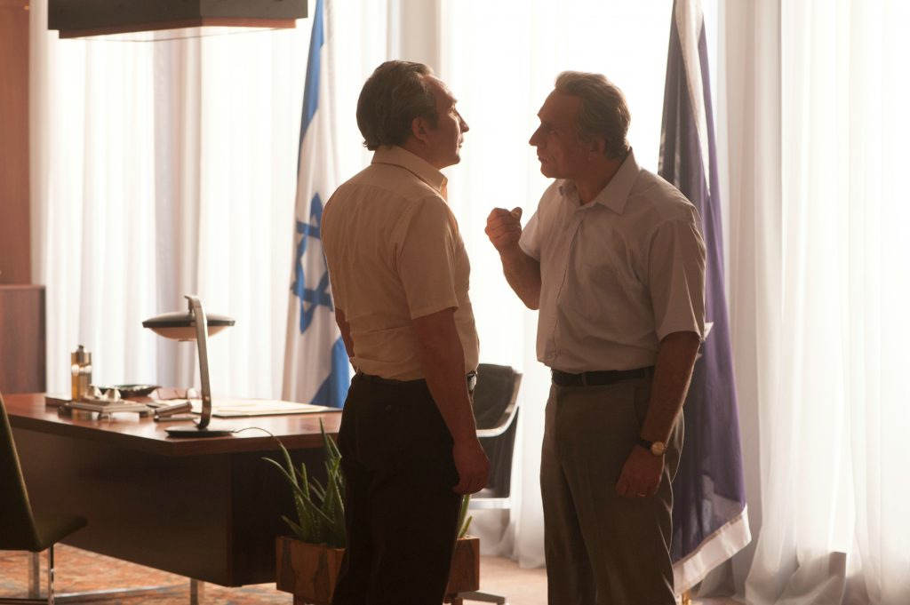"Eddie Marsan und Lior Ashkenazi als ""Shimon Peres"" und ""Yitzhak Rabin"" in ""7 Tage in Entebbe"" © Entertainment One Germany"