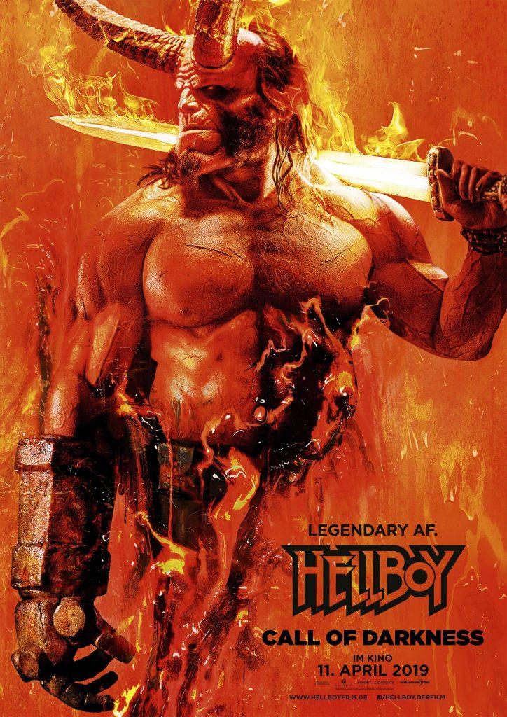 Eines der Filmplakate zu Hellboy - Call of Darkness © Universum Film