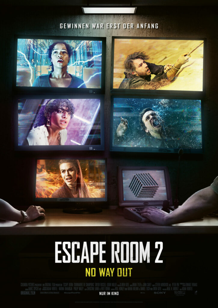 Das Kinoplakat zu Escape Room 2 © 2021 Sony Pictures Entertainment Inc. All Rights Reserved.