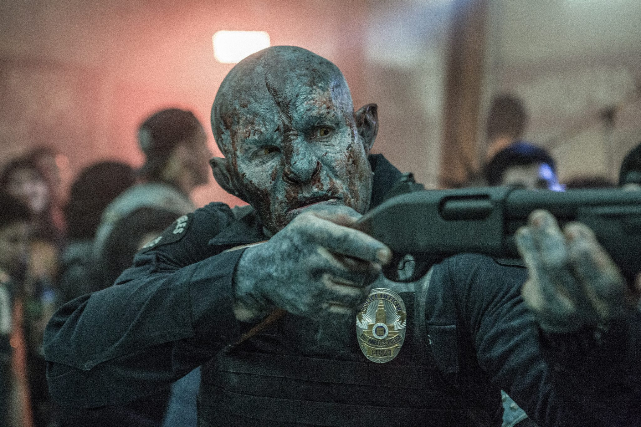 """Joel Edgerton als Ork-Cop """"Jacobi"""" in """"Bright"""" von ©Netflix"""