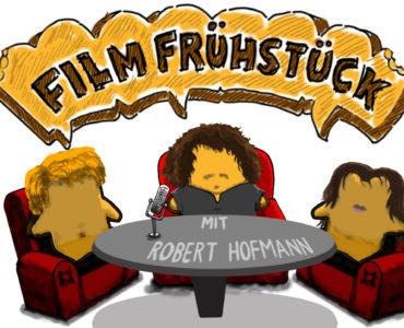 Unsere Redakteure Stefan und Grace und Robert Hofmann als Toasts im Filmfrühstück Podcast