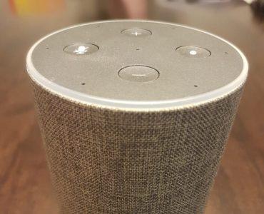 Ein Amazon Echo Gerät in grau