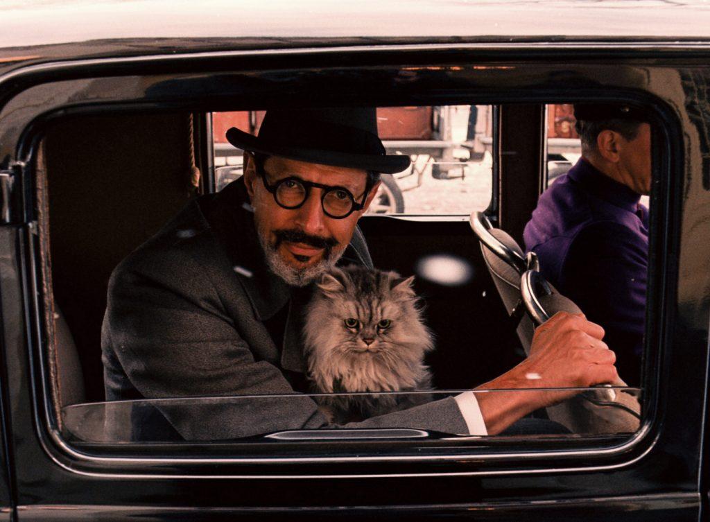 Jaff Goldblum als Rechtsanwalt Vilmos Kovacs in Grand Budapest Hotel