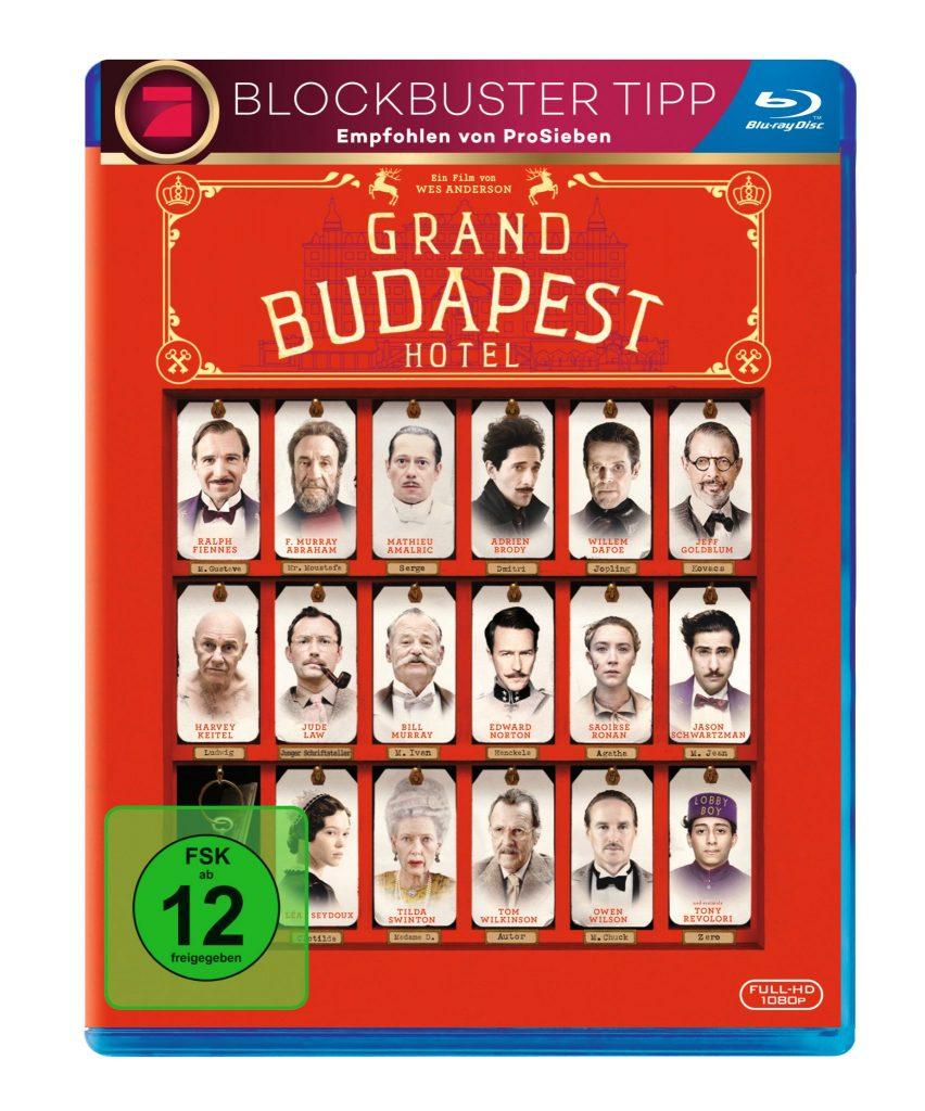 Das Cover der Blu.ray von Grand Budapest Hotel