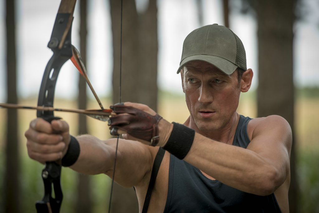 "Wotan Wilke Möhring als ""Hantel"" in ""25 km/h"" © Sony Pictures"
