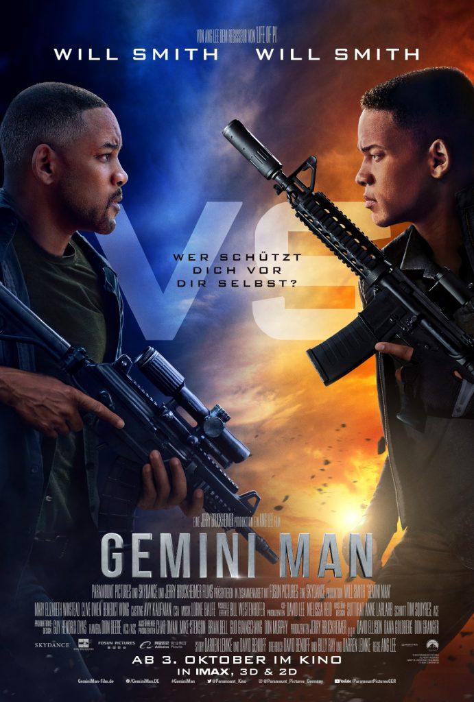 Das offizielle Poster von Gemini Man. © Paramount Pictures
