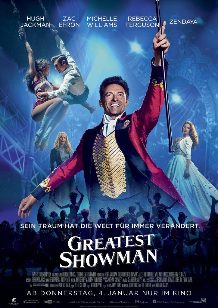 """Filmplakat zu """"Greatest Showman"""" © 20th Century Fox"""