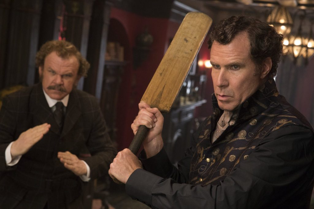 Das Ermittlerduo in Action in Holmes & Watson © 2018 Columbia Pictures Industries, Inc. and Mimran Schur Pictures, LLC. All Rights Reserved.