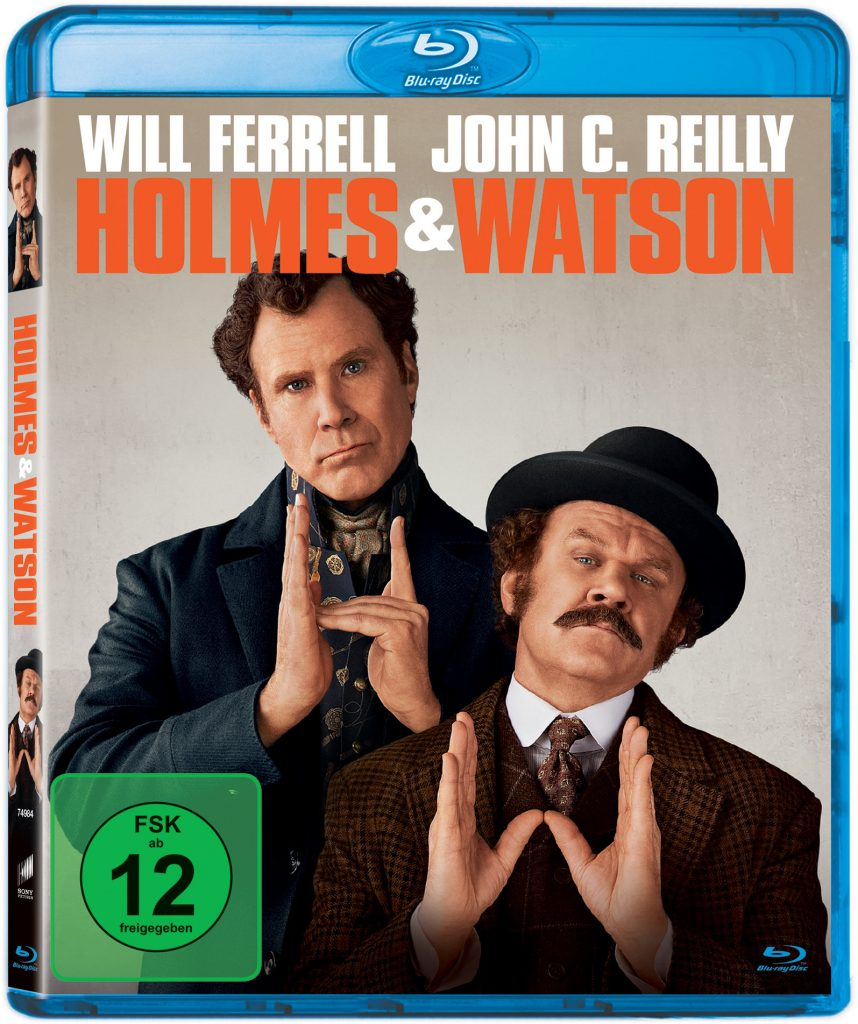 Das Blu-ray-Cover zu Holmes & Watson © 2018 Columbia Pictures Industries, Inc. and Mimran Schur Pictures, LLC. All Rights Reserved.
