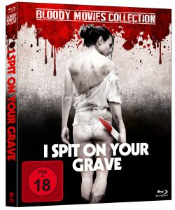 """Blu Ray Cover von """"I Spit On Your Grave"""" © Tiberius Film"""