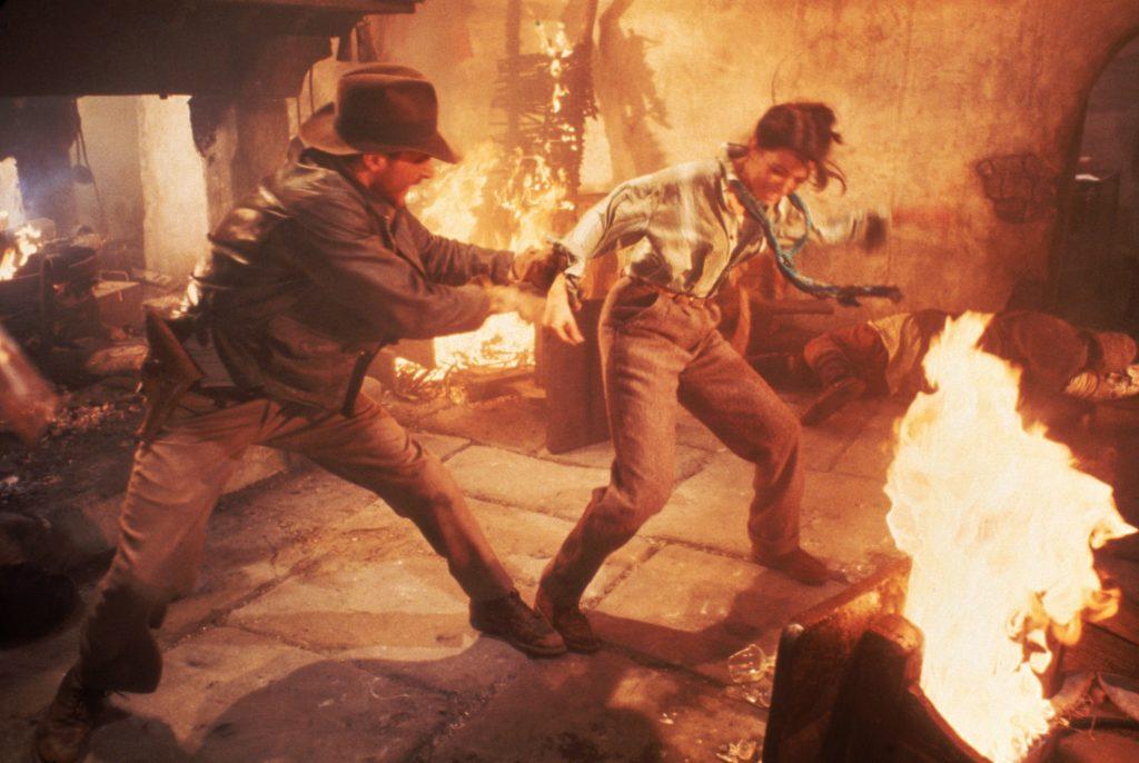 Harrison Ford als Indiana Jones und Karen Allen als Marion