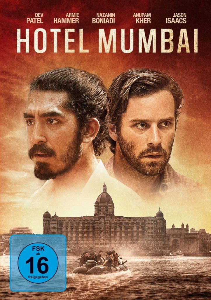 Dev Patel und Armie Hammer auf Cover von Hotel Mumbai