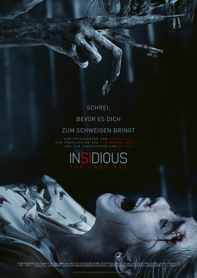Das offizielle Filmposter von Insidious 4 - The Last Key ©Sony Pictures Germany