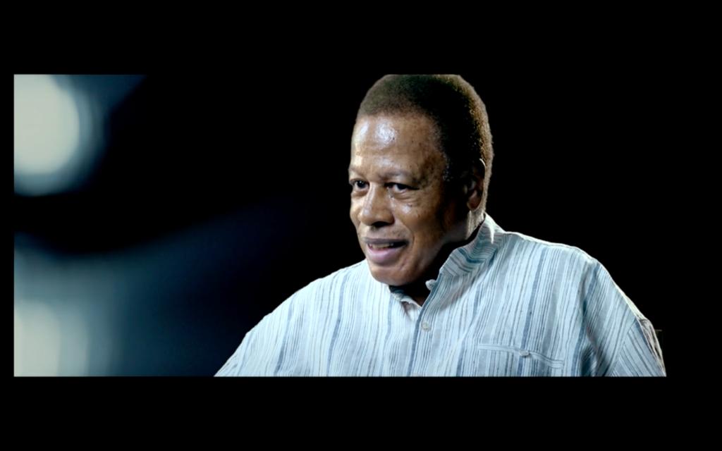 Wayne Shorter gibt für It Must Schwing - The Blue Note Story ein Interview.