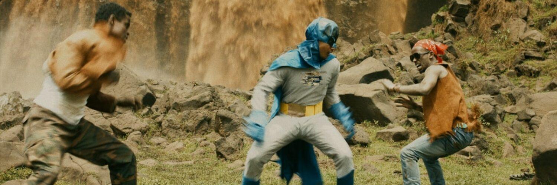Batman kämpft gegen zwei böse Handlanger - Jesus Shows You the Way to the Highway
