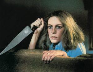 Jamie Lee Curtis in Halloween - Die Nacht des Grauens von 1978