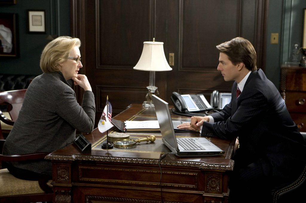Janine Roth (Meryl Streep) im Interview mit dem republikanischen Senator Jasper Irving (Tom Cruise) ©Studio Hamburg Enterprises