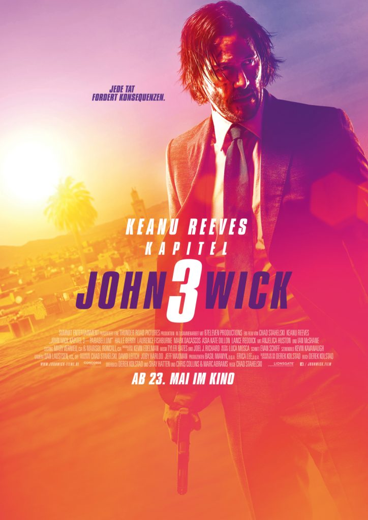 Kinoposter John Wick: Kapitel 3 © 2019 Concorde Filmverleih GmbH