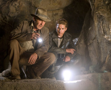 Harrison Ford als Indiana Jones und Shia LaBeouf als Mutt Williams