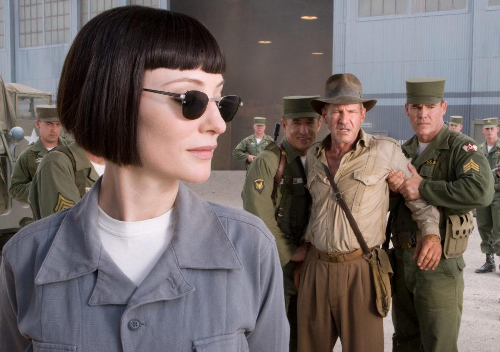 Cate Blanchett als Irina Spalko und Harrison Ford als Indiana Jones