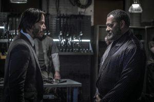 Keanu Reeves und Laurence Fishburne ind John Wick- Kapitel 2 aus 2017