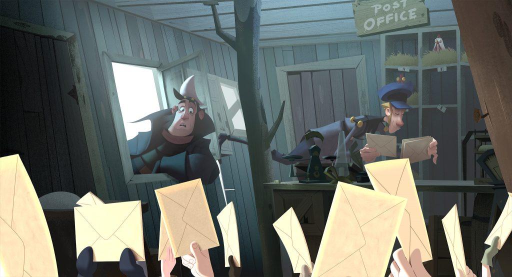 Der neue Postbote (Jason Schwartzman) hat in Klaus die Hütte voll.