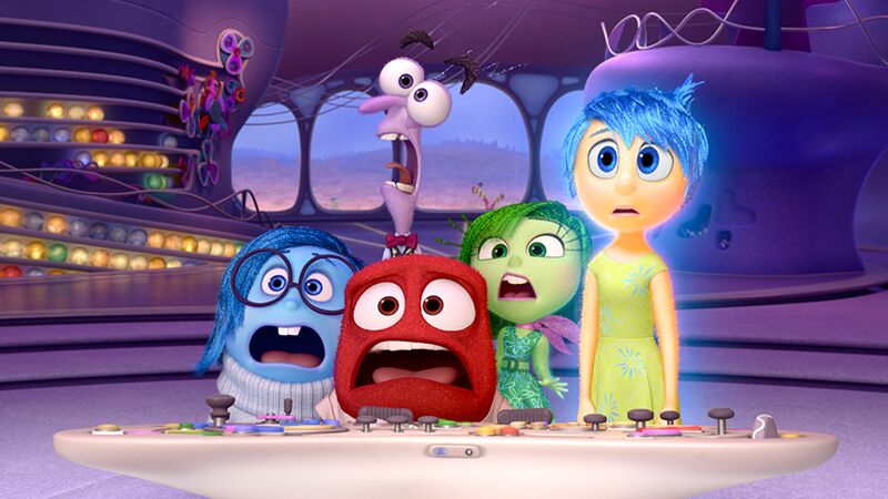 Kummer, Angst, Wut, Ekel und Freude (v.l.n.r.) ©Disney/Pixar 2015