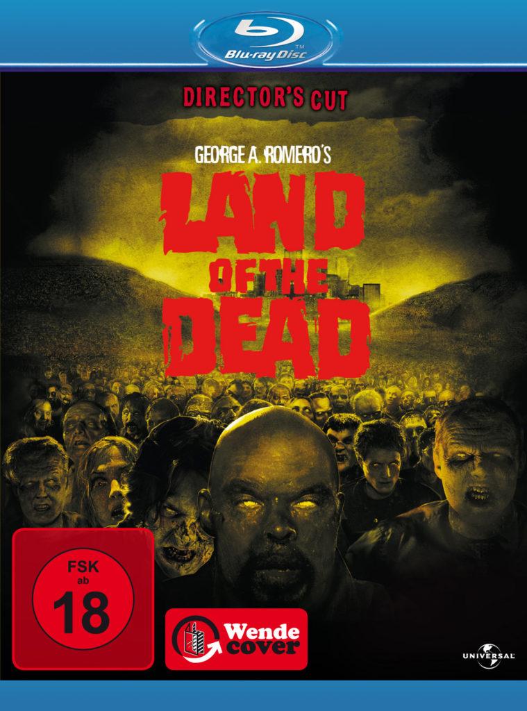 Blu-ray-Cover von Land Of The Dead mit dem Hinweis Director's Cut und FSK 18 Siegel