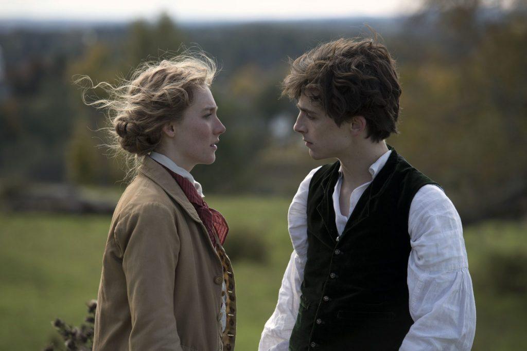 Jo (Saoirse Ronan) und Laurie (Timothée Chalamet) diskutieren ihre Zukunft in Little Women