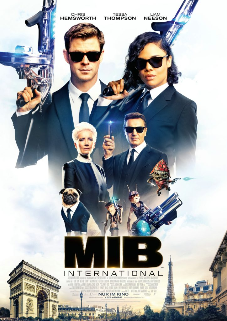 Das Filmplakat zu MIB: International © 2019 Sony Pictures Entertainment Deutschland GmbH