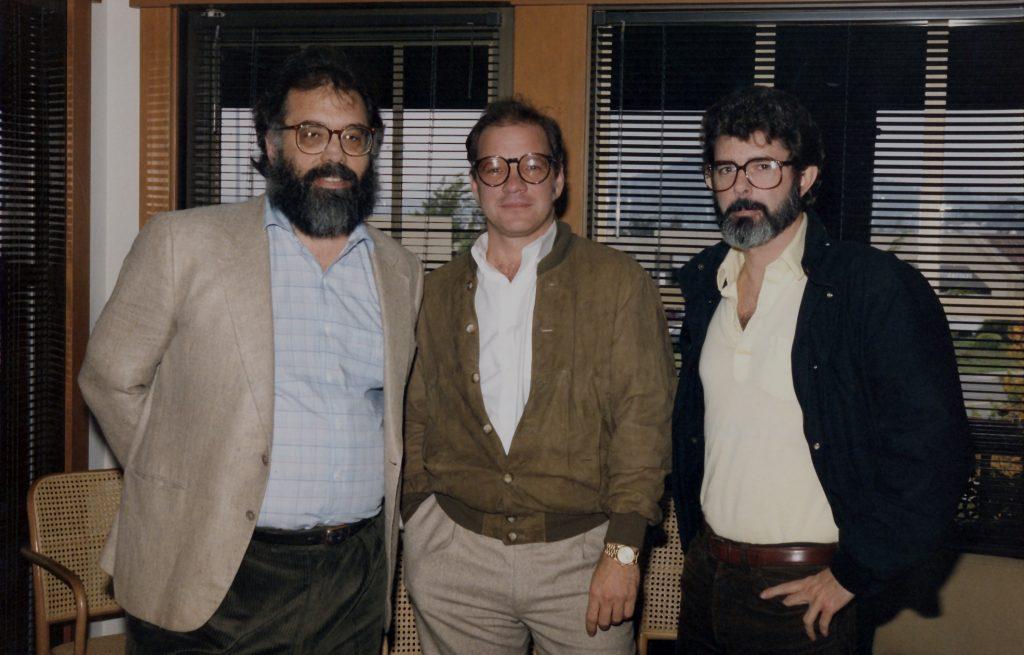 Paul Schrader (Mitte) gemeinsam mit Francis Ford Coppola (Links) und George Lucas (Rechts)