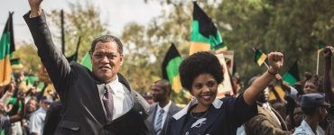 "Nelson Mandela (Laurence Fishburne) in ""Madiba"" © justbridge entertainment"