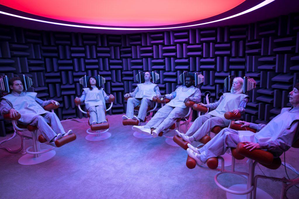 """Die Probanden der neuen Studie in """"Maniac"""" © Netflix"""