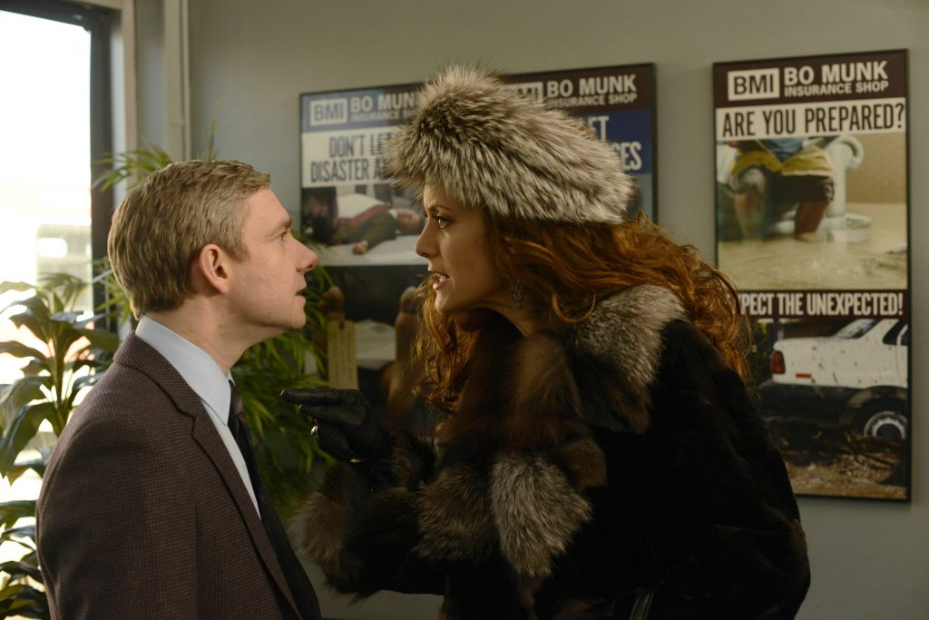 Martin Freeman und Kate Walsh in Fargo