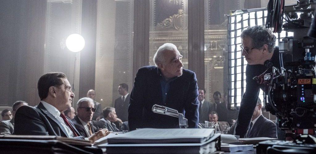 Martin Scorsese am Set von The Irishman