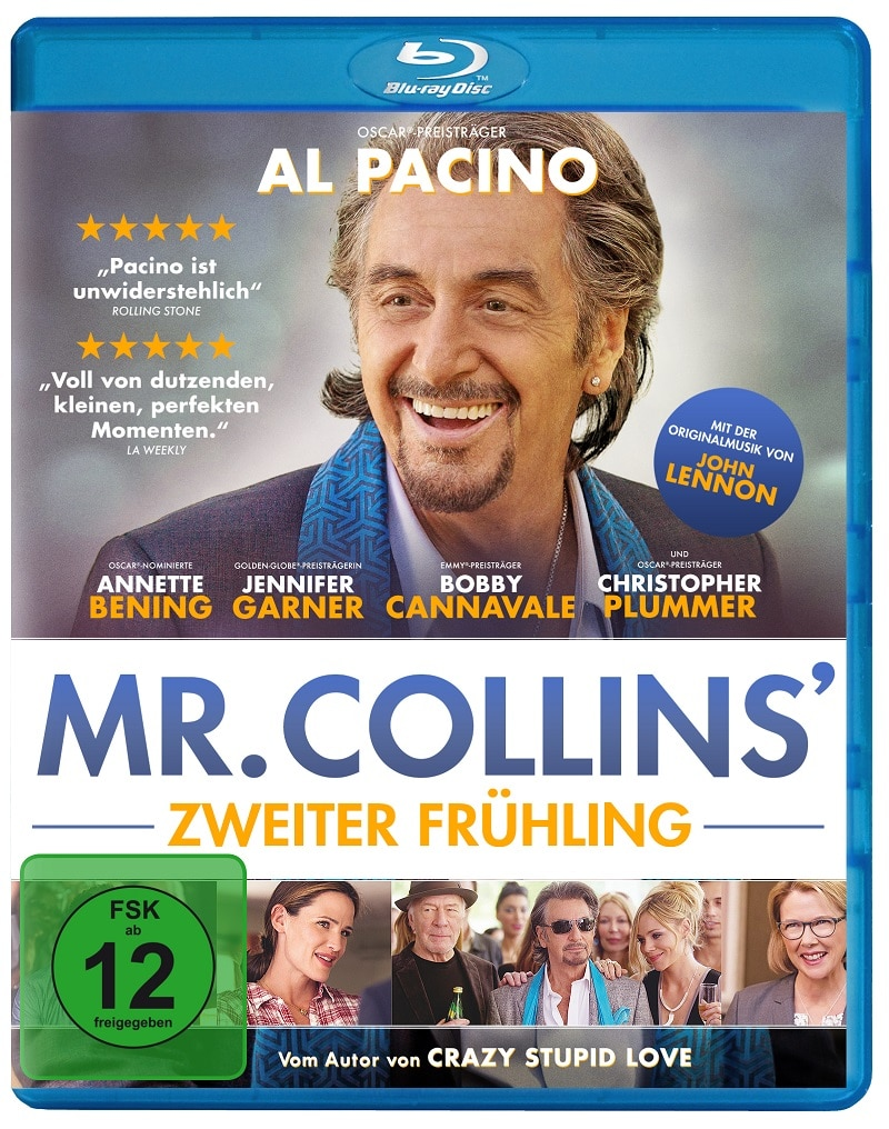 Al Pacino lacht herzlich auf dem Cover von Mr. Collins' zweiter Frühling